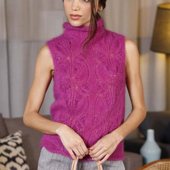 lana gatto silk mohair mezgimo siulai megztiniai schema