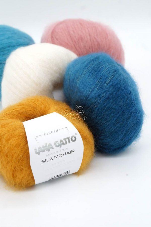 lana gatto silk mohair mezgimo siulai moheris su silku mochera silkas italiski siulai gera kaina