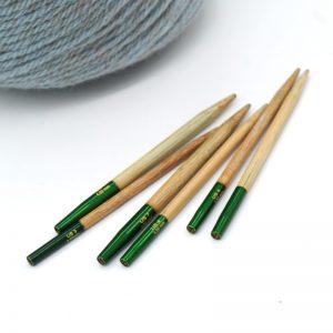 lykke grove mezgimo virbalai prisukami bambukiniai virbalai trumpi mezgimo priemones